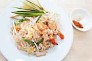 Fried Rice Noodles with Prawns
