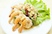 Prawns with Spicy Lemongrass Salad