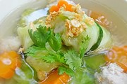 Pork Stuffed Cabbage Rolls in Clear Soup